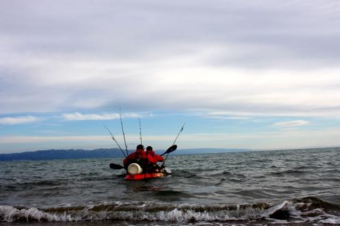 zarpar con el kayak